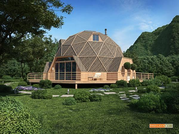 Как построить круглый дом своими руками